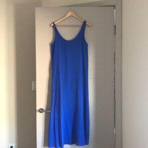 100% silk J crew long tank dress